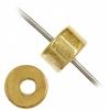 Metalized Heishi Bead 2X4mm Gold